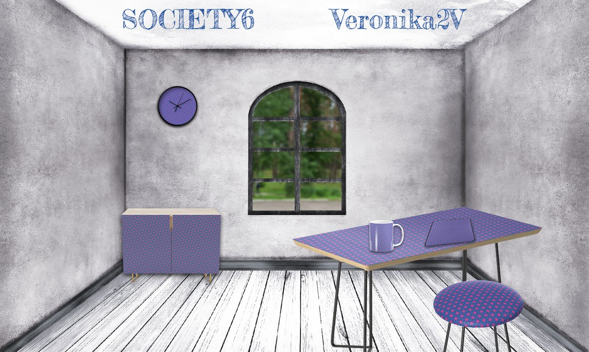 Décor your room with Society6. Wall Art, Furniture, Tabletop, Curtains etc. Welcome!  Small pink six rays stars on a blue background.  Girly style.  https://society6.com/veronika2v    #pink #stars #blue #girly #feminine #pattern #abstract #violet #giftideas #society6 #veronika2vpic.twitter.com/x33lgLjU9V