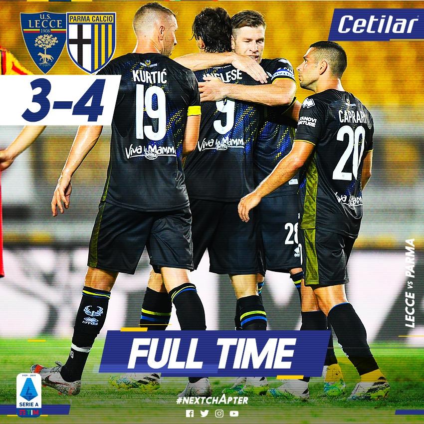 ⏳ Full Time a Lecce ⏳ #LecceParma 3 - 4