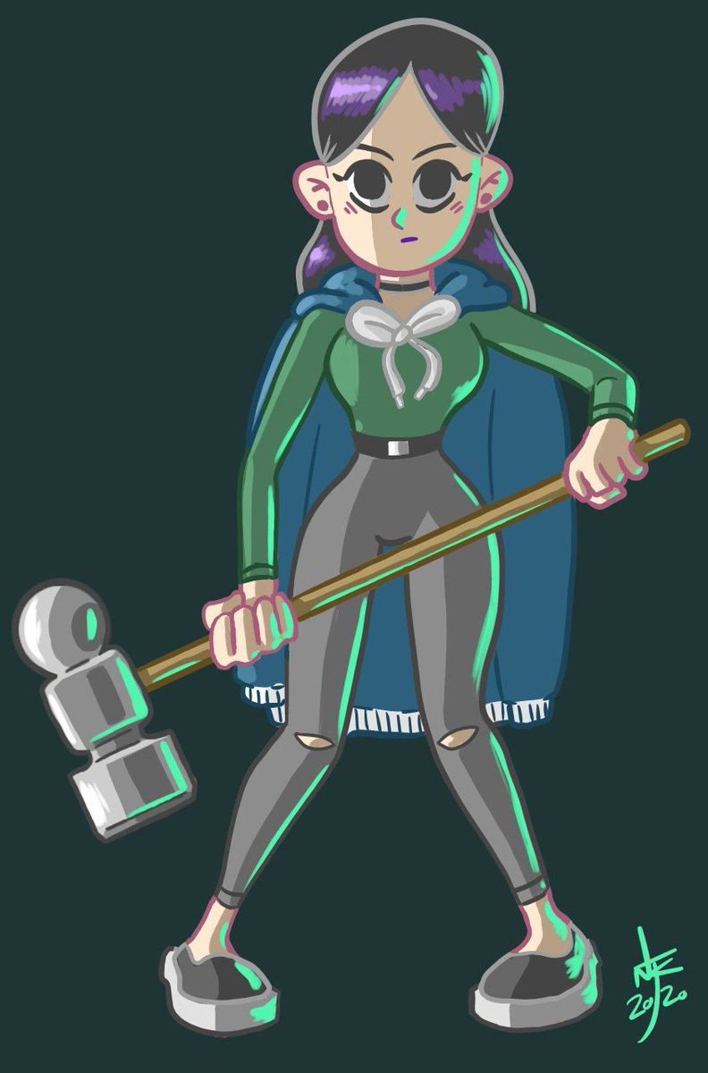 Added some colour to Margot. Really interesting to see my style change and develop over time. #originalcharacter #characterdesign #conceptart #illustration #Hammertime https://t.co/INvW0nxtff