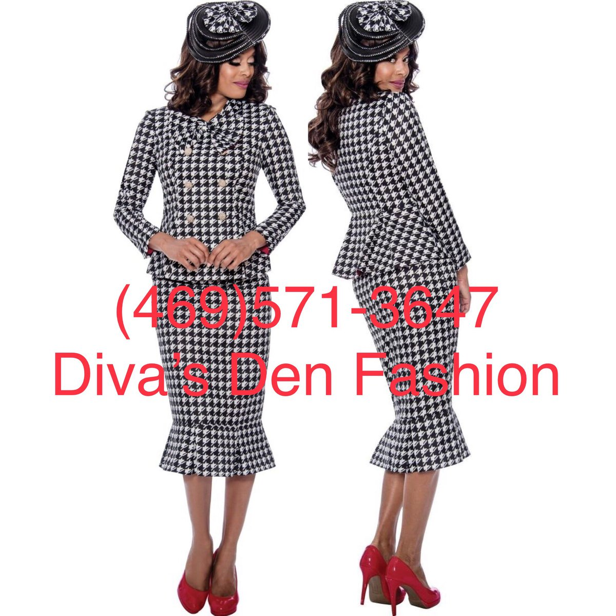 GMI 8292  https://www.divasdenfashion.com/products/gmi-8292 …   #DivasDenFashion #COGIC #GMI #whitesuit #blacksuit #summerfashion #hat #houndstooth #ensemble #Fatandfabulous #Girlwithcurves #churchfashions #cogicfashion #nordstrom #TeamCOGIC #plussizefashion #Curvystyle #Plusblogger #beautifulcurves #curvypic.twitter.com/tf9e9wf1QA