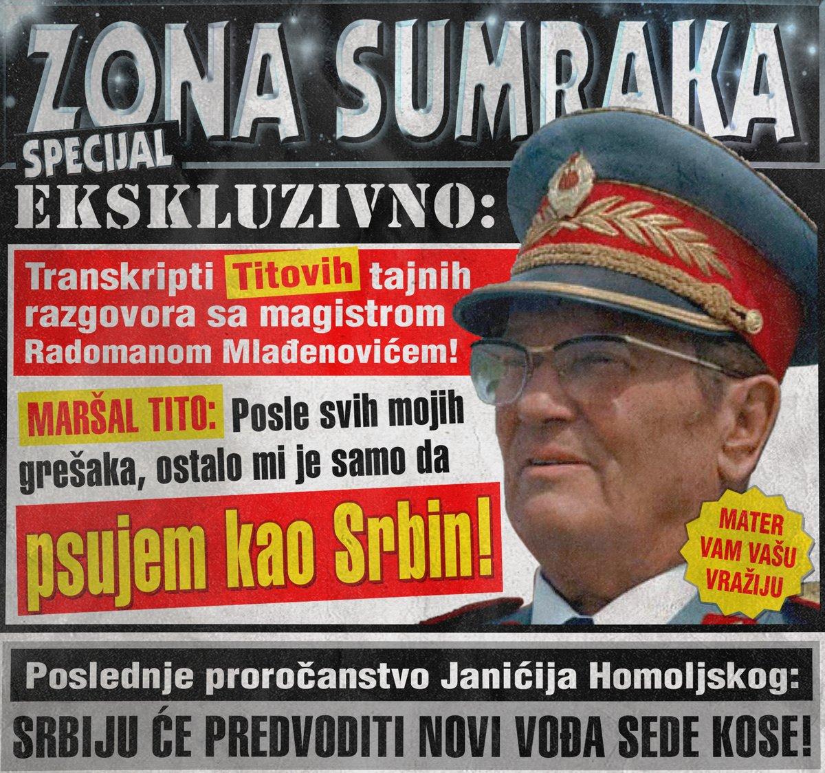 Titova poslednja želja je bila da psuje kao Srbin