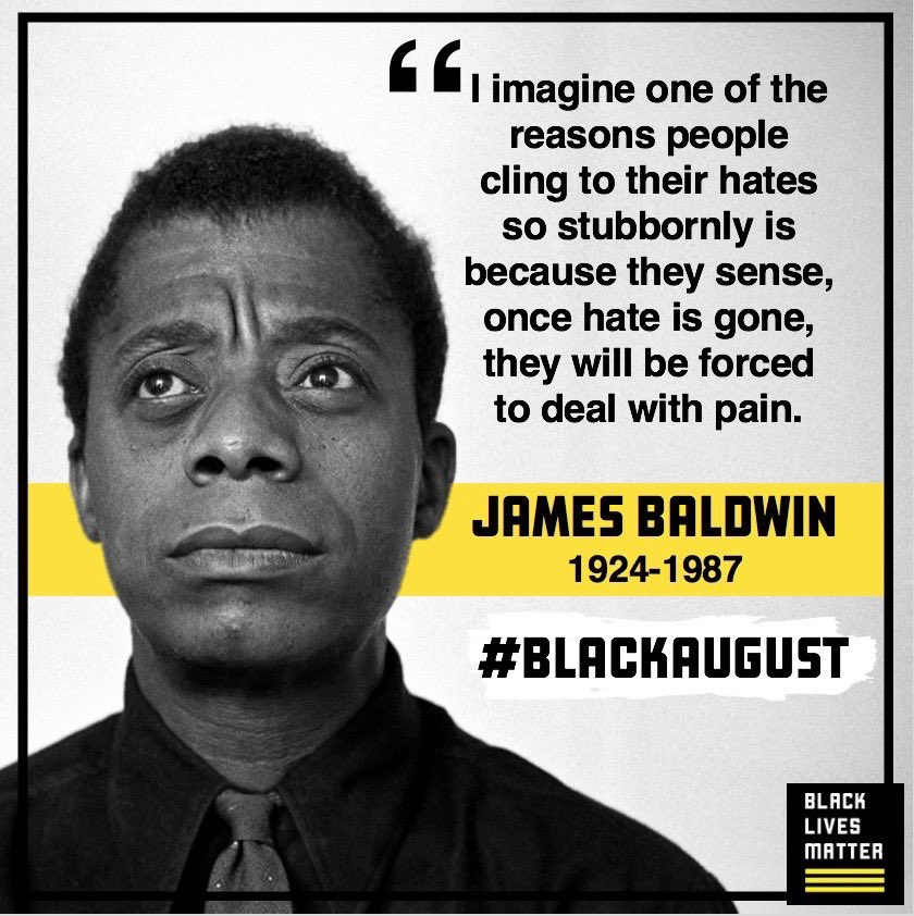Happy birthday, James Baldwin. #BlackAugust