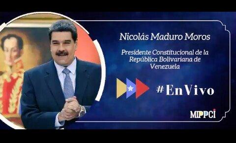 #EnVivo 🔴Presidente @NicolasMaduro: Agradezco a la vicepresidenta @drodriven2 porque no descansa, están en batalla permanente, todo el equipo el equipo de trabajo dedicado 24 horas del día, les agradezco #AtenciónYSaludParaTodos