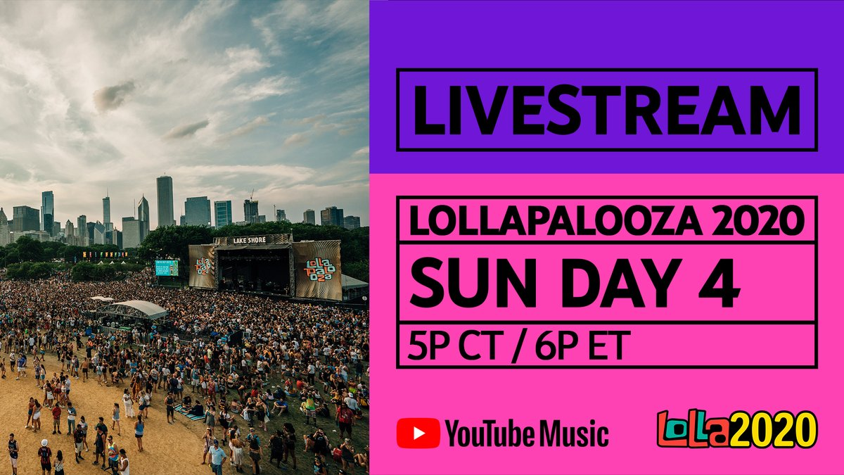 Festival blues are hitting us hard! On Day 4 of #Lolla2020, meet us in the virtual pit for special performances from @thegreatkhalid, @gracepotter @louisthechild & more. Grab your festival buddy and tune in now! → https://t.co/wcpQSaQT4M https://t.co/PaPhyeL1NN