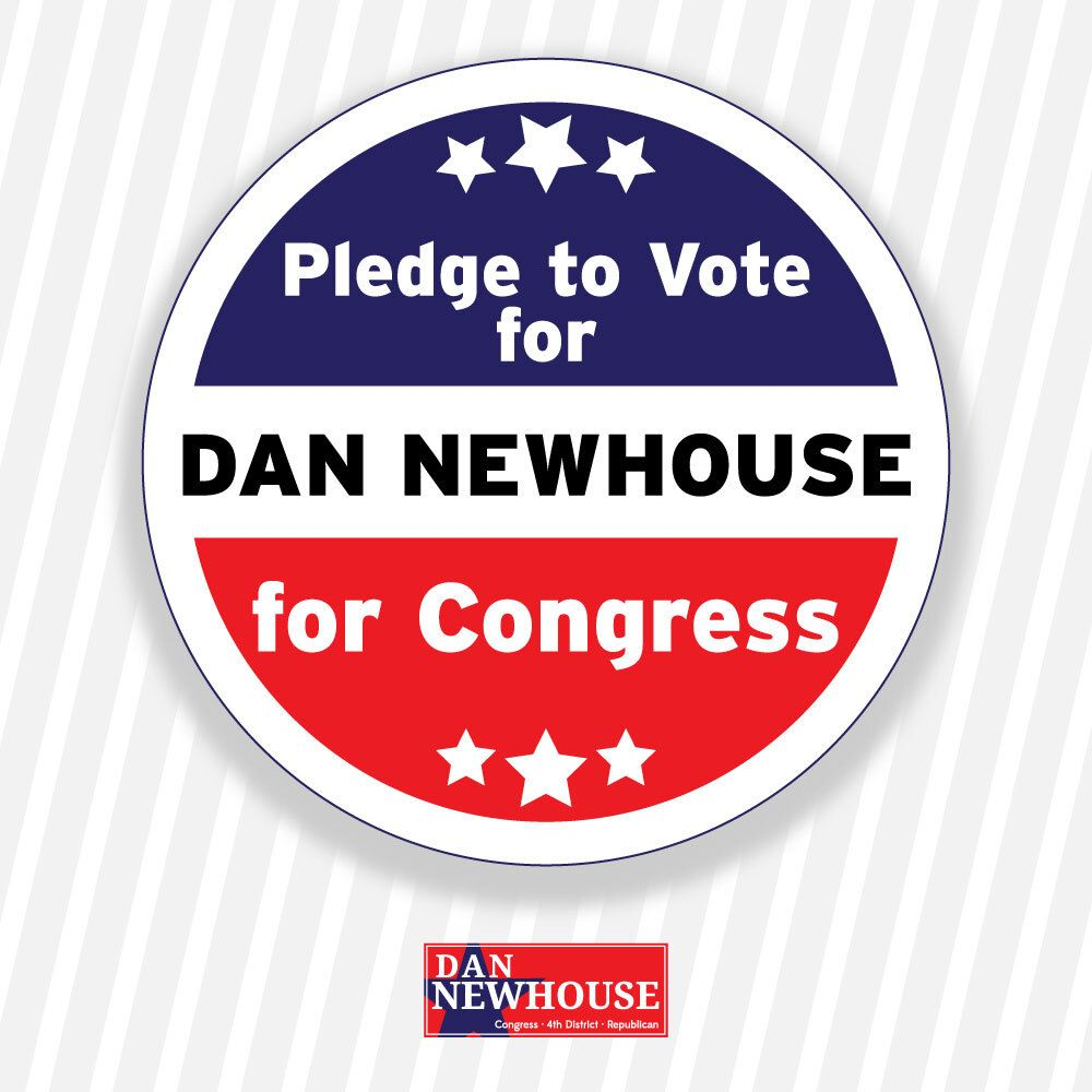 Pledge to vote for Dan Newhouse for Congress! RT this tweet! https://t.co/r1NsZhvvsv