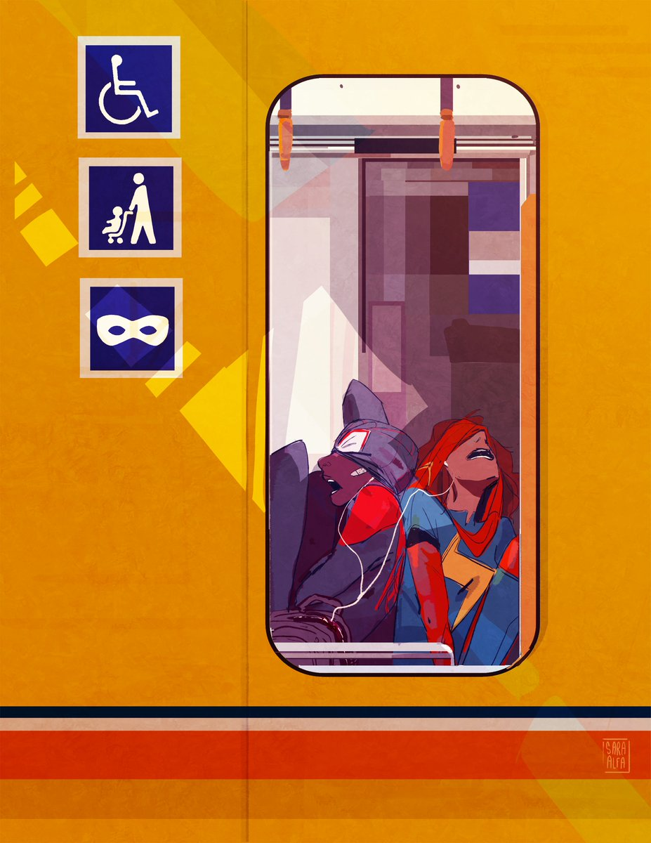Miles and Kamala after a long night for #SpiderManDay