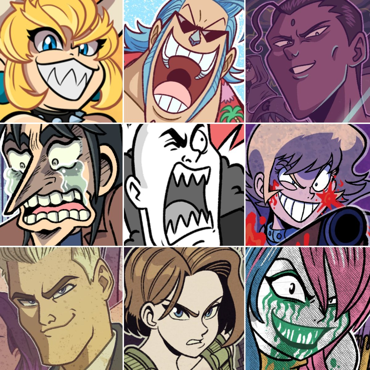 Intense,angled eyebrows and big teefers #FaceYourArt