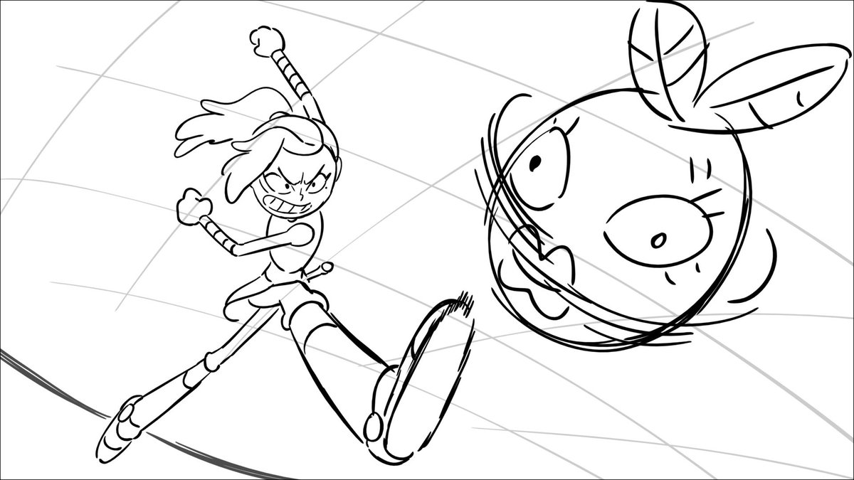 Heres a few storyboard frames from Toadcatcher! I was still working remotely back then so I have the file. (might post stuff from 204 too later) #Amphibia