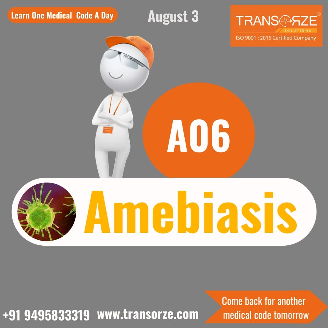 Learn One Medical Code A Day, with TaGo 'Amebiasis' is an infection of the intestines  visit: https://transorze.com  #transorzesolutions #TaGo #kerala #stayhomestaysafe #like #share #support #learning #diseases #trivandrum #calicut #cochin #coimbatore #educationpic.twitter.com/VV2gnDPCEv