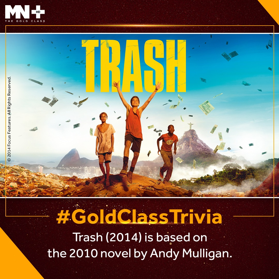 Did you know? #AndyMulligan wrote the novel in 10 days straight. His novel is based on the work of the Philippine Community Fund. #GoldClassTrivia  #TrashMovie https://t.co/GsakrD0cye
