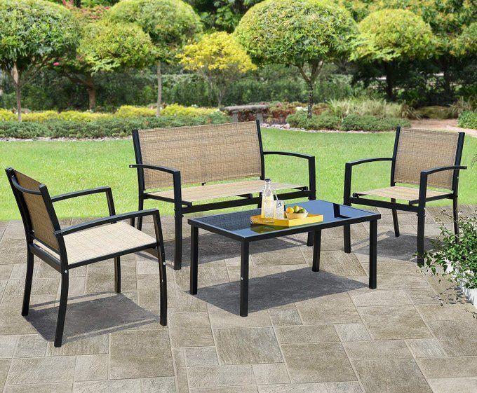 4 Piece Patio Furniture Set, $159.98!  2