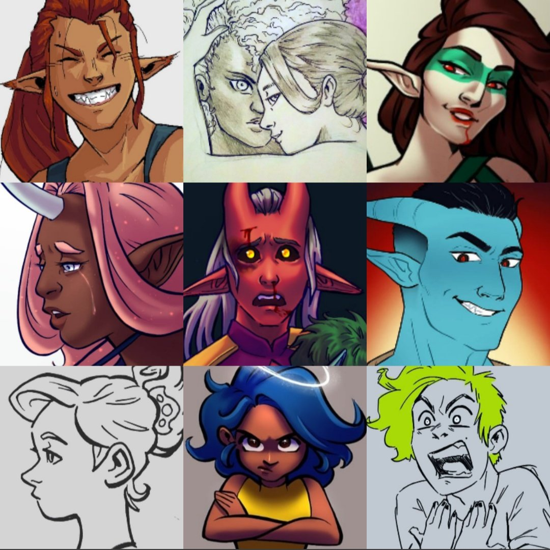 Faces are my favourite I think 😊 #faceyourart