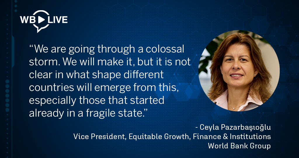 Watch @CeylaP_WBG highlight the challenges ahead for developing countries post #COVID19. See the video replay: wrld.bg/YGnQ50AMJBt