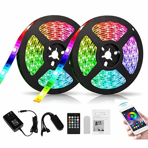 Bluetooth LED Strip Lights 39.4 ft/ 12M APP Control Music Sync, 5050 RGB Rope Lights with 12V Power Supply and Remote for Home Kitchen, Bedroom, Bar, Party. (12m) #instruments pic.twitter.com/0vSu6gCTyg