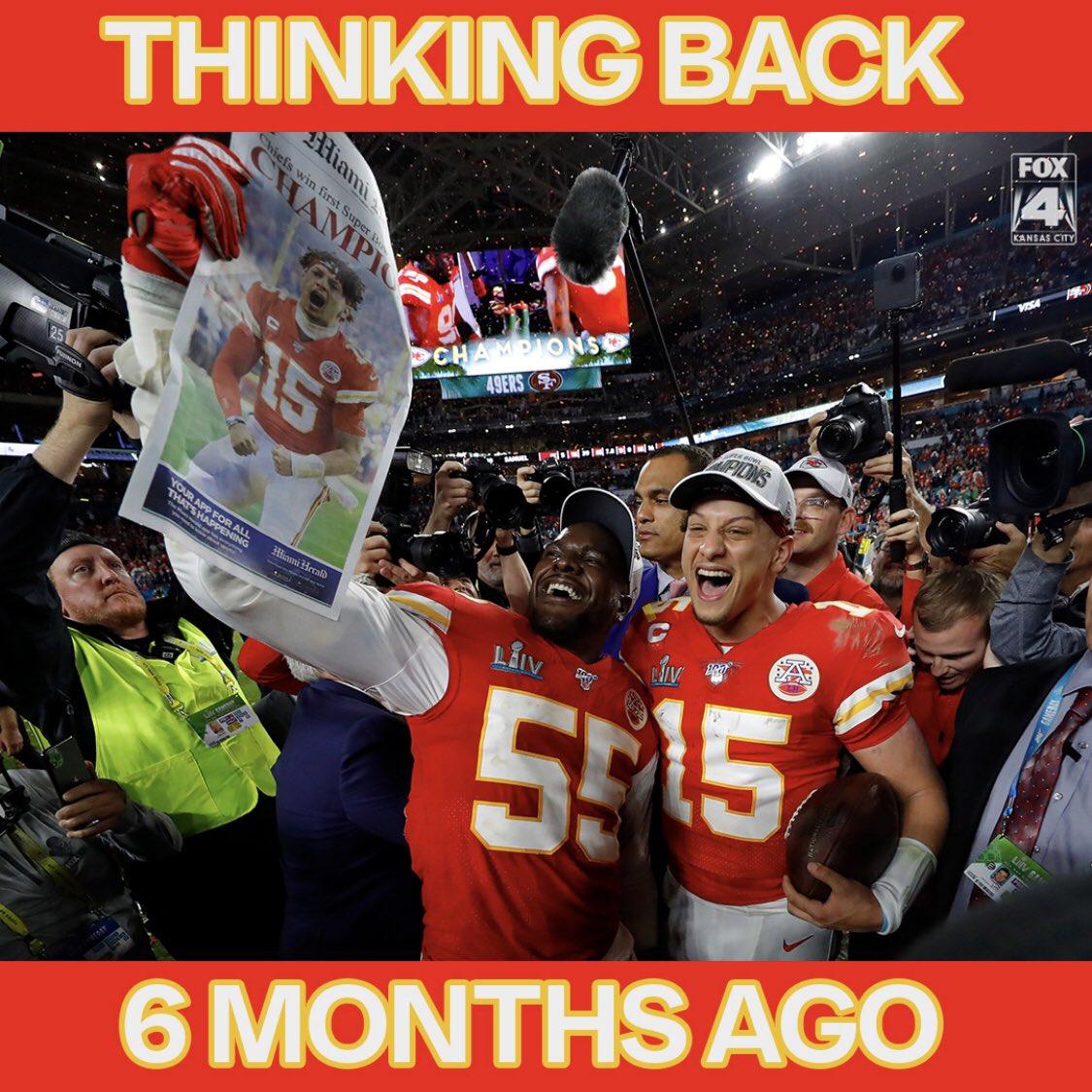 So. 2020 hasn't been all bad. Six months ago tonight... #RunItBack #WorldChampions #ChiefsKingdom