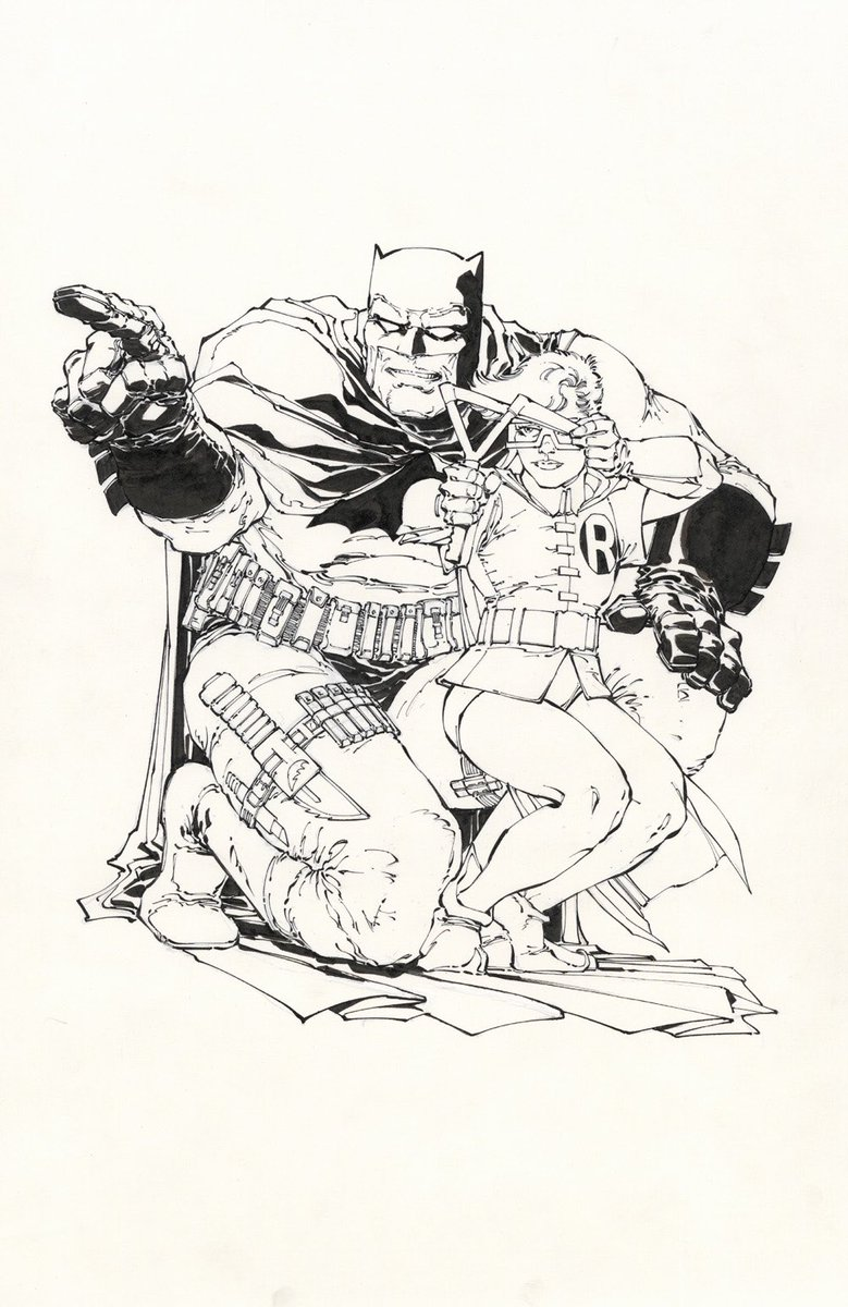 That time I inked the now classic @FrankMillerInk statue design drawing from the equally classic The Dark Knight Returns. With apologies to both Frank and @klausjansonnyc !