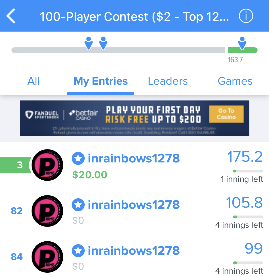 Join #FREE http://zpr.io/tk4Hy as another #win was just posted for Team Prime!  The #best #DailyFantasySports #DFScontent !  is http://zpr.io/6c8WF   After hours near takedown fanduel #FanDuel #DraftKings #DFS #sportspicks #NBA #NFL #MLBpic.twitter.com/SKsgjOU2Gl