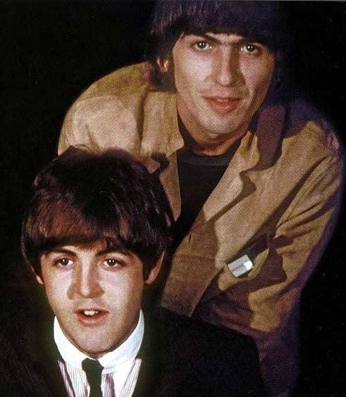 Paul and George at a press conference during the US Tour of #TheBeatles in 1965