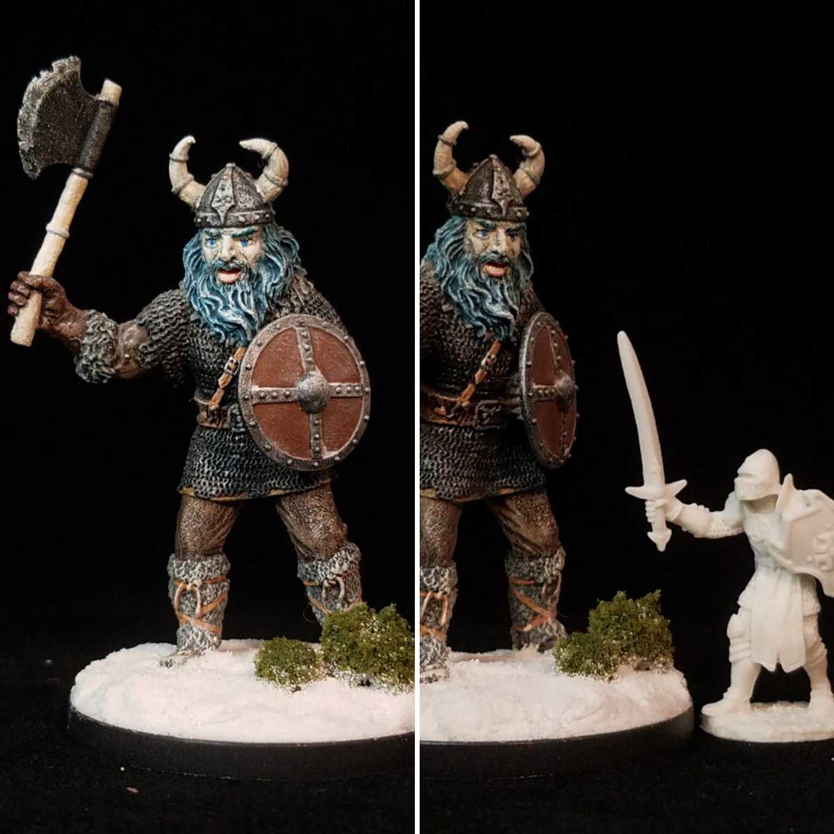 Frost Giant (Ral Partha 11-436) . #tabletop #fantasy #rpg #miniatures #ttrpg #minis #RalPartha #iwm #giant #OldSchool #dungeonsanddragons #pathfinderrpg #MyCharacterMinis #paintingminis https://t.co/zF7a2YYqRT
