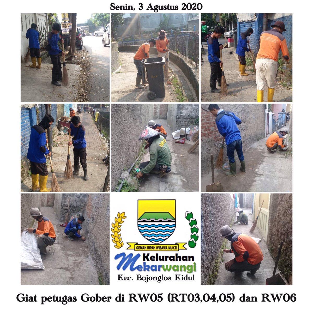 Giat petugas Gober pagi pembersihan jalan lingkungan di RW05 (RT03,04,05)  dan RW06 Kelurahan Mekarwangi Kecamatan Bojongloa Kidul Kota Bandung pada hari Senin tanggal 3 Agustus 2020 @OdedMD @kangyanamulyana @dlhk_kotabdg @pembdg @kecbojkid_ktbdg #bandungjuara #tetapsemangat pic.twitter.com/wy2hHJ0Ywg