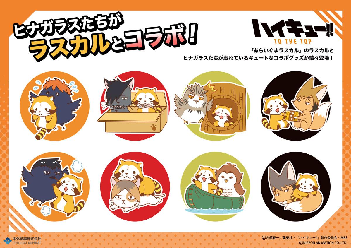 【新商品情報】「ハイキュー!! TO THE TOP」と「ラスカル」がコラボ! ハイキュー!! 縁日ポップアップショップの会場と大阪のらいよんデイリーストアにて先行販売が決定! ※お一人様各3点まで会期終了後、一般販売・通販を予定しております。▶︎#ハイキュー #hq_anime