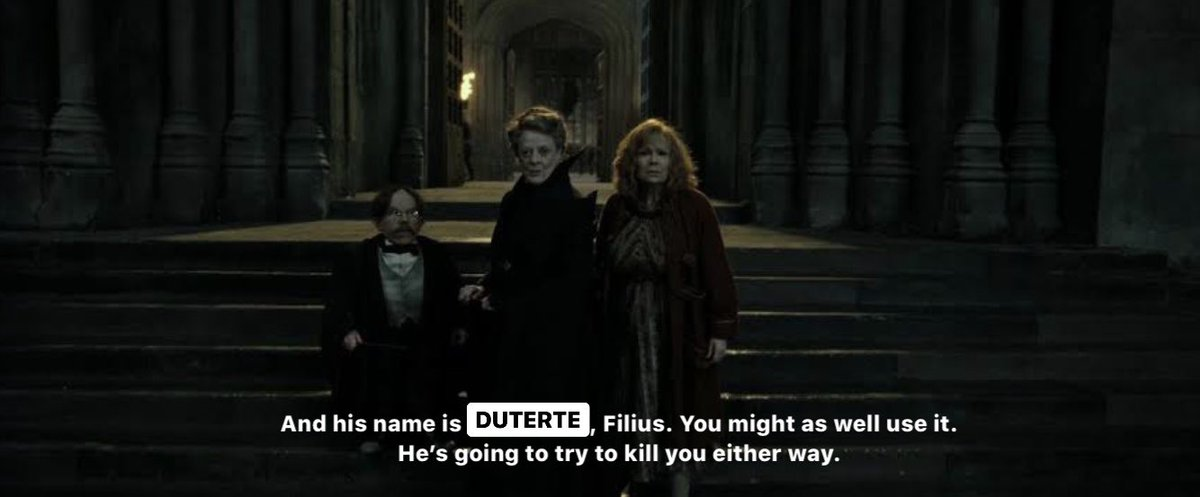 It was fun using #OustDu𓆉, but let's not be afraid of saying his name. Fear of the name only increases the fear of the thing itself.  #OustDuterte pic.twitter.com/BAPFtiUzaV