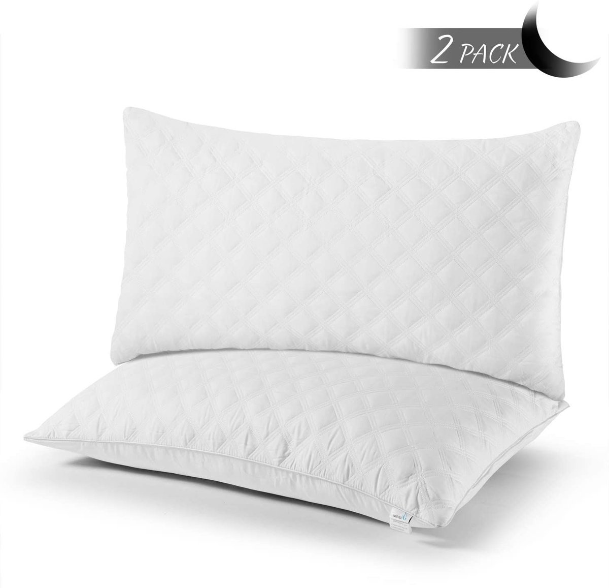 2 pack of Queen Pillows, $23.99!  Use promo code; 50ZC76ML  2