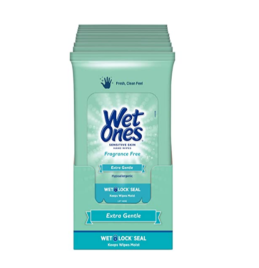Wet Ones Sensitive Skin Hand Wipes, 20 Count (Pack Of 10) Back in stock!!  2