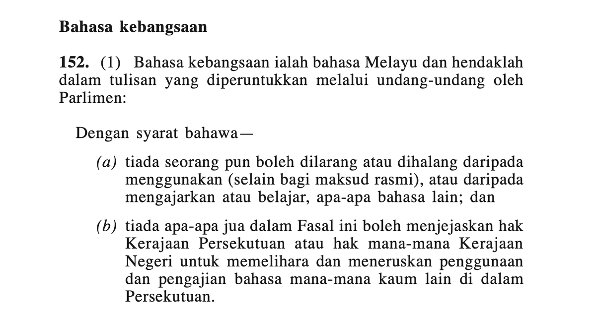 Bahasa Melayu Dalam Perlembagaan Persekutuan