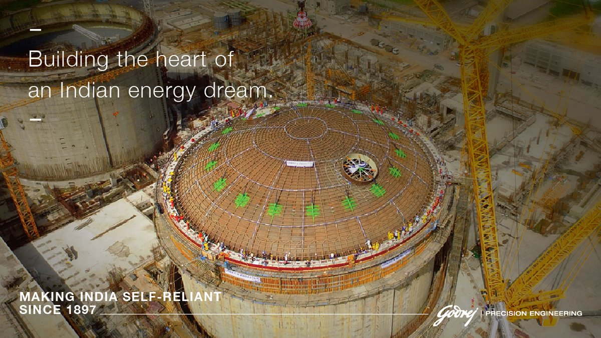 On July 22nd India's NPCIL achieved criticality of the Kakrapar Atomic Power Plant-3, 1st indigenously built 700 MWe Pressurized Heavy Water Reactors. Saluting our nuclear scientists for this remarkable feat. Godrej Precision Engineering is proud to be part of the project. (1/2) https://t.co/DDVbabNa8i