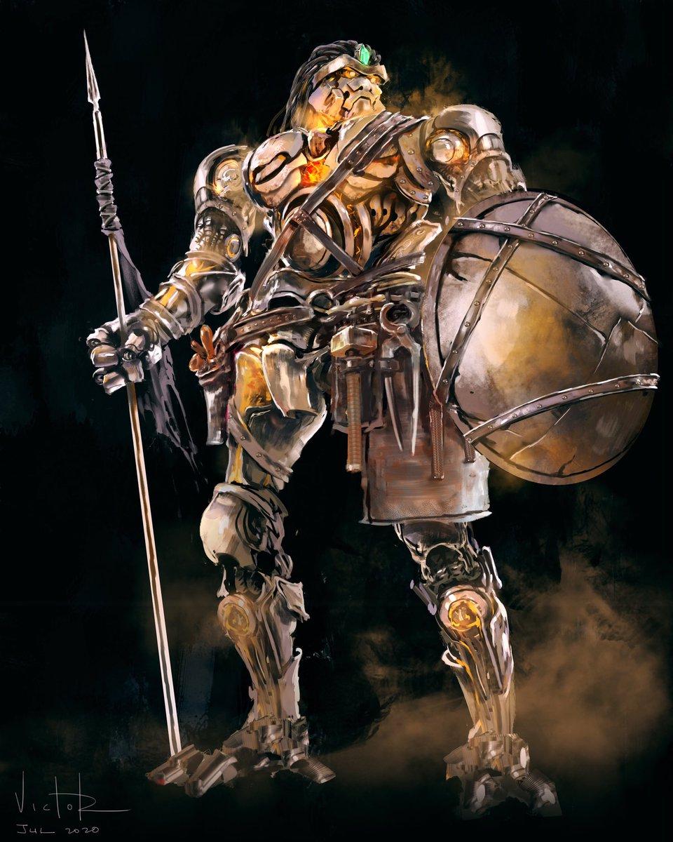 Kirkja Ord (Holy Hammer) Warforged #dnd #dungeonsanddragons #dungeonanddragonsart #warforged #characterart #commissionsopenpic.twitter.com/V3w2eHpWyH