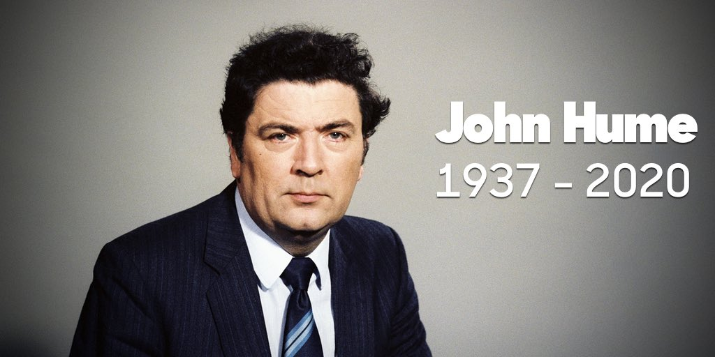 'I never thought in terms of being a leader. I thought very simply in terms of helping people'.  Nobel Laureate and former SDLP Leader John Hume passed away last night. We all live in the Ireland he imagined - at peace and free to decide our own destiny.  Thank you, John. https://t.co/0yO5KWaTv7