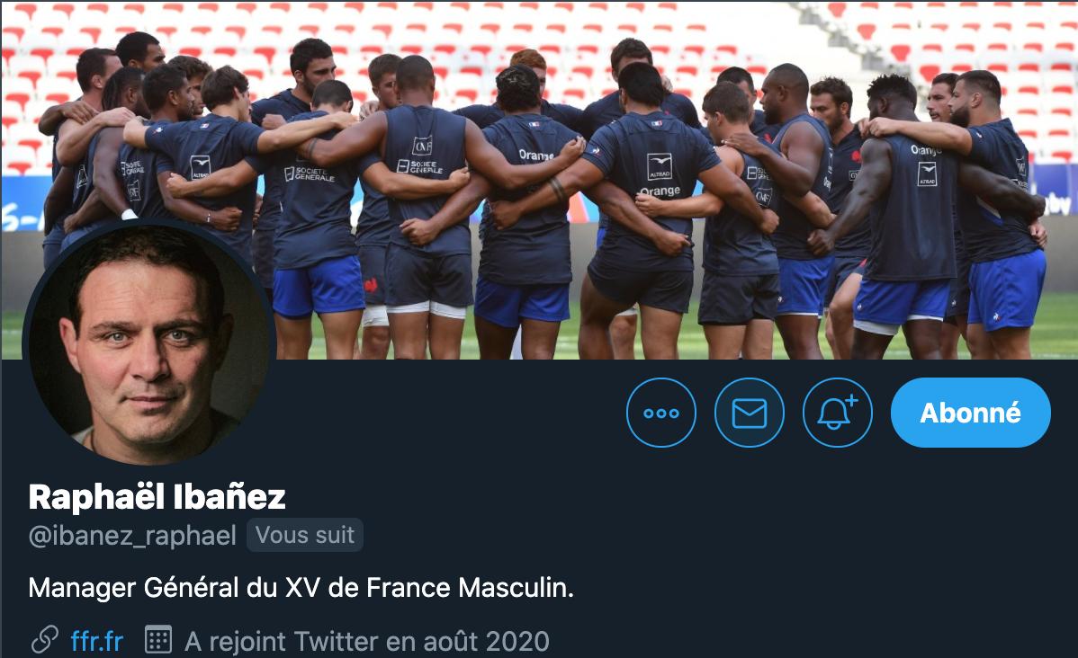 👋 Bonjour à tous, vous avez passé un bon week-end ? Le Manager du #XVdeFrance masculin 𝐑𝐚𝐩𝐡𝐚𝐞̈𝐥 𝐈𝐛𝐚𝐧̃𝐞𝐳 en a profité lui pour créer son compte Twitter ! Alors, faites-lui un bel accueil et suivez le juste ici 😃 👇👇👇 @ibanez_raphael