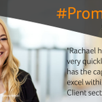 Image for the Tweet beginning: #Promotion. Well done to Rachael