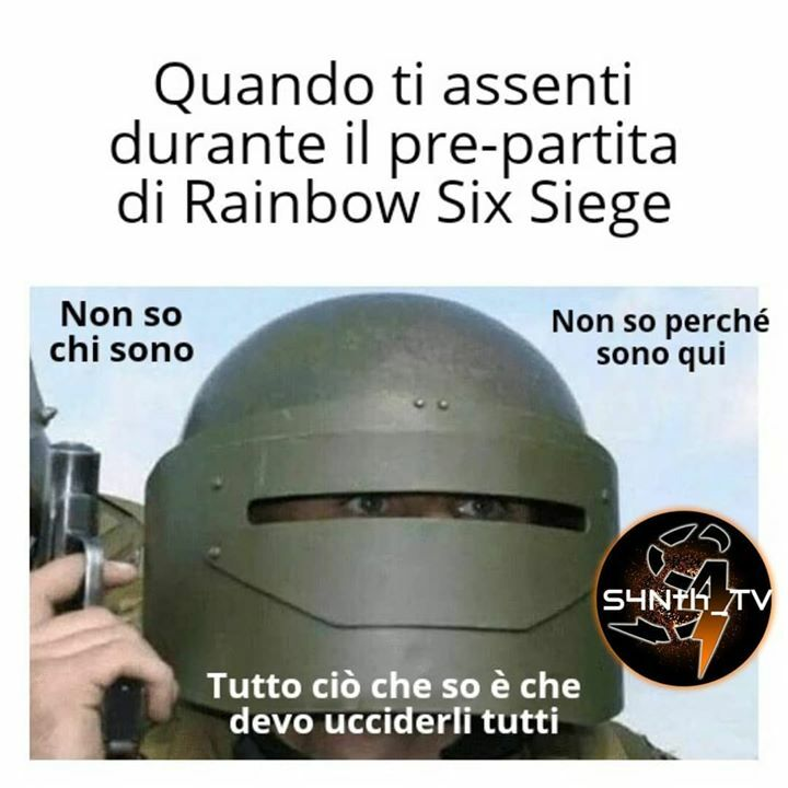 Sempre se il gioco non ti kiccka per inattività #meme #memes #r6siegememes #r6 #fps #fpsgames #r6siege #rainbowsixsiegememes #rainbowsixsiege #r6memes #r6meme #tomclancysrainbowsixsiege #r6italiancomunity #r6italia #games #game #pc #gaming #pcgami… https://instagr.am/p/CDay-9Kni2D/pic.twitter.com/XJDTapZsVC