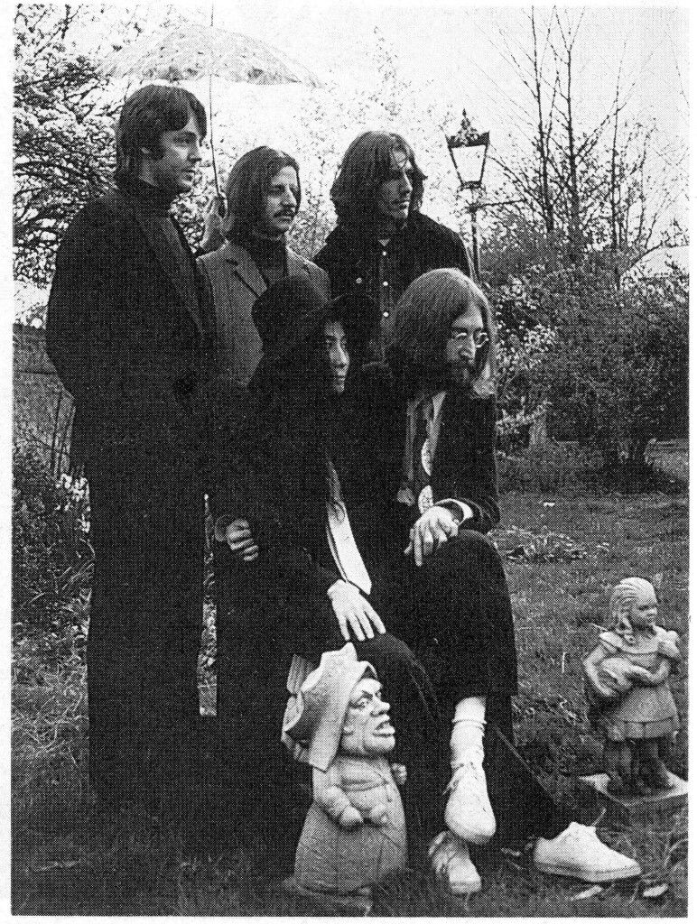 #TheBeatles with Yoko posing at Pauls house in Cavendish, April 1969 #TheBeatles