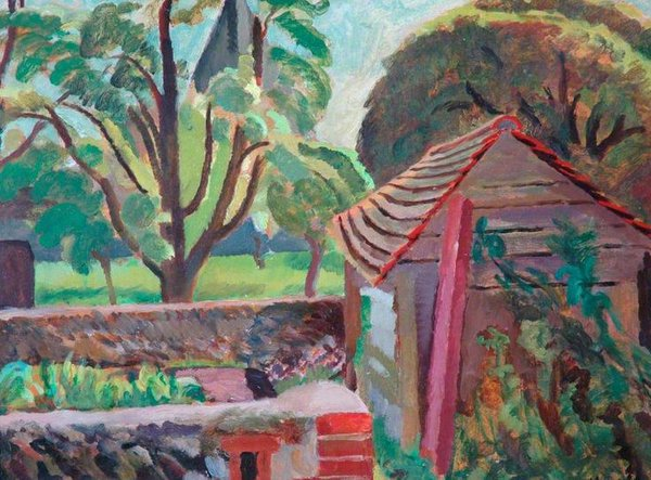 Garden at Hampstead,1947 by English painter Vanessa Bell, sister of Virginia Woolf #womensart