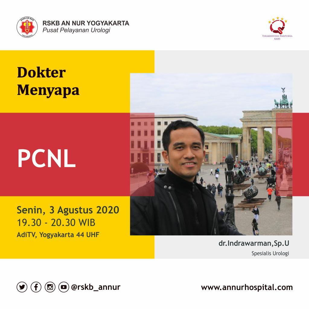 Apa PCNL itu ?  Nah semua akan dikulik di DOKTER MENYAPA bersama dr. Indrawarman,Sp.U dari RSKB An Nur Yogyakarta.  Senin, 3 Agustus 2020 pukul 19.30 hanya di @aditv_jogja   #Yogyakarta #dokter #doktermenyapa #aditvjogja #jogja #PCNL #urologipic.twitter.com/C0dgYuoOxY