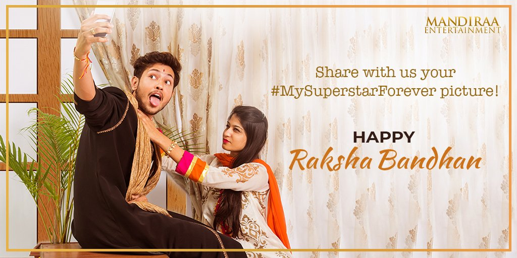 Tied your Rakhi, exchanged your gifts? It's time for some throw back embarrassing & cute moments! Share a picture of your sibling dressed up as their favourite actor, tag them and use the hashtag #MySuperstarForever. #MandiraaEntertainment #RakshaBandhan #HappyRakshaBandhan