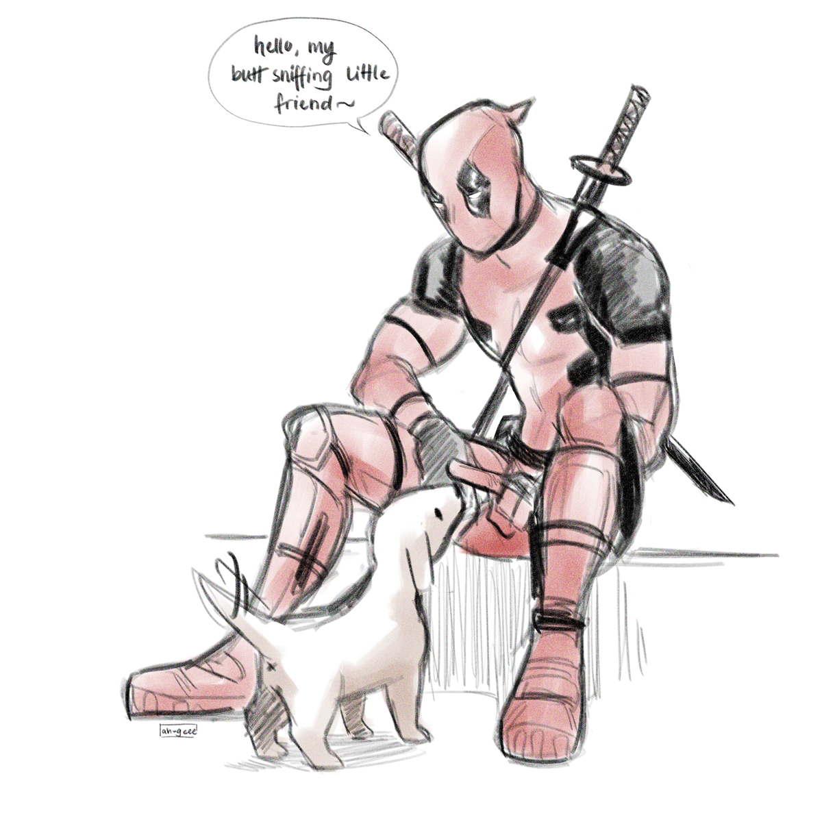 he found a pupper and named it R.D., short for Rotten Diaper, because that's what it smelled like #Deadpool pic.twitter.com/mpw2ZRoVtW