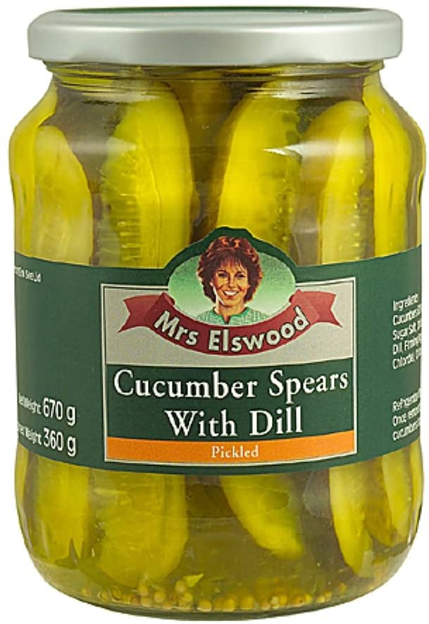 Mrs Elswood Pickled Cucumber Spears with Dill, 670g - £1.03 2