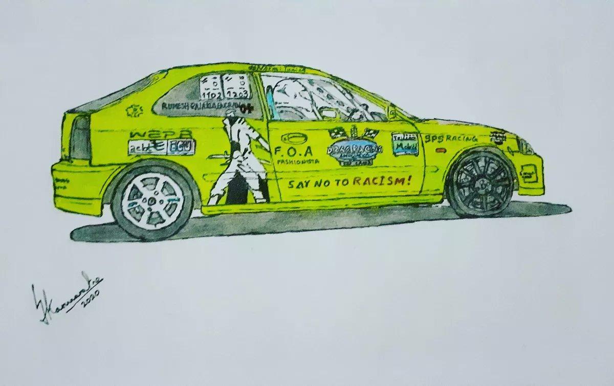 Car Artist Lahiru On Twitter Honda Civic Ek9 Drag Car Honda Civic Ek9 Wepr Drasl Spsracing Babymilo Cars Carart Drawing Sketch Pencil Pen Ink Freehand Traditionalart Srilanka Carartist Jdm Vtec Dragracing Volk