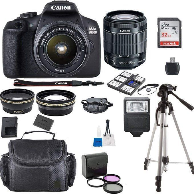NEW Canon Rebel T7 Bundle with Lens and Accessories for $354!  2