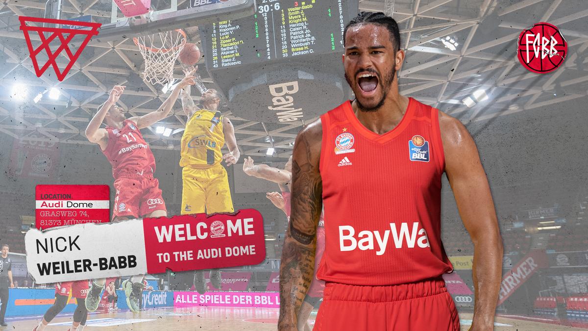 🚨 WELCOME, NICK WEILER-BABB!⠀⠀ Der vielseitige Combo Guard @nickbabb12 unterschreibt bis 2022. Mehr zur Verpflichtung: 🔗 fcbayern.com/Weiler-Babb #FCBB #FCBB2021 #NickWeilerBabb #AudiDome #EuroLeague #BBL