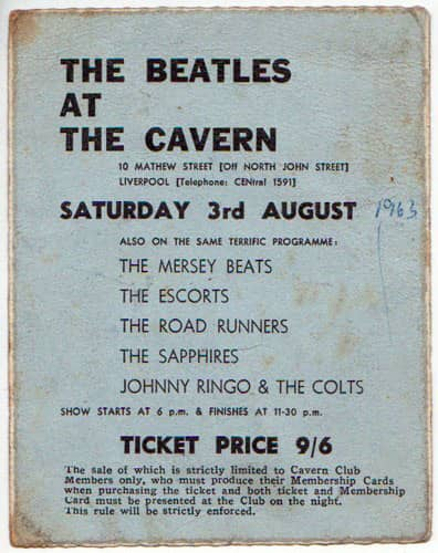 The Beatles performed their final show at Liverpools Cavern Club on 3 August 1963. A power cut plunged the Cavern into temporary darkness, so Lennon and McCartney performed an acoustic version of When Im Sixty-Four! Read all about it: beatlesbible.com/1963/08/03/liv…