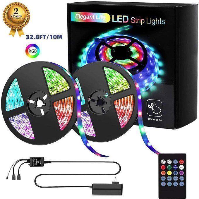 32.8ft LED Strip Light for $17!!  Use promo code; XIDGVJXE