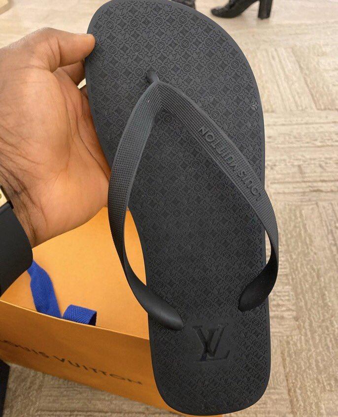 This Louis Vuitton flip flops aka