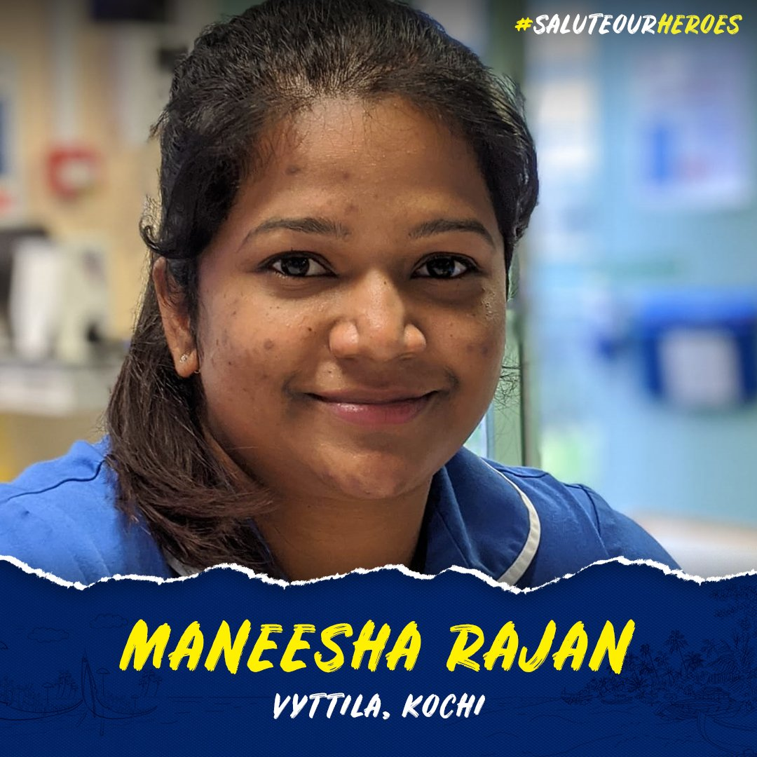 In this week's#SaluteOurHeroes, we have Maneesha Rajan, from Vyttila, Kochi who works as a registered nurse at Epsom and St. Heller NHS Trust, London.  1/6  #YennumYellow https://t.co/whODZmnBBi
