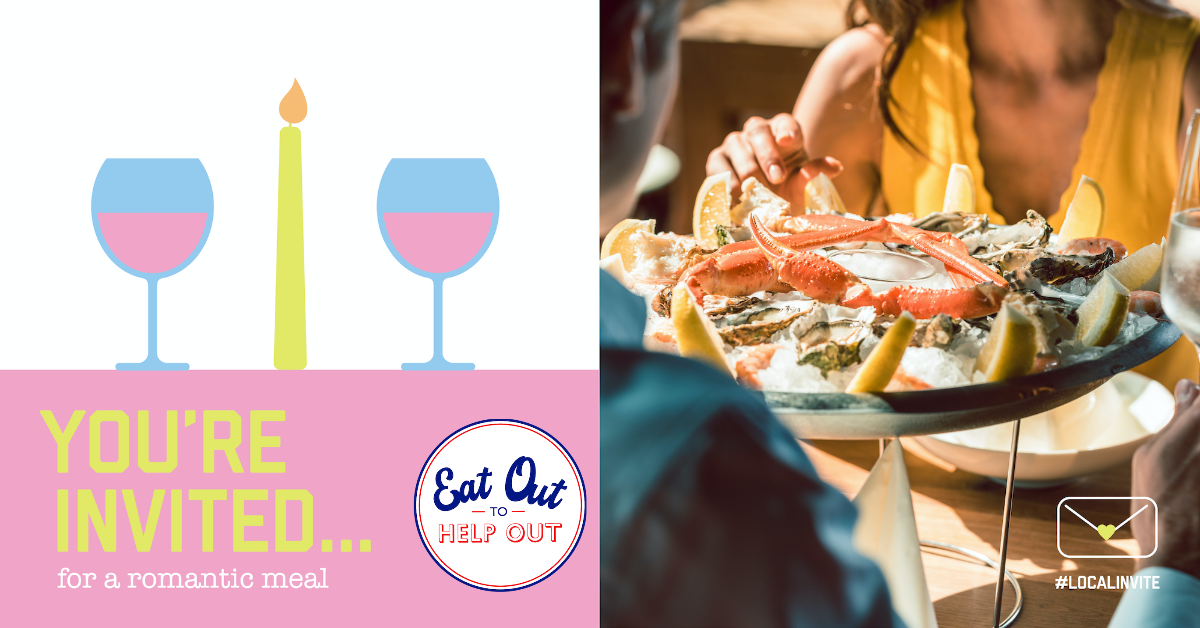 The 'Eat Out To Help Out Scheme' starts today! 🍽️ 👉 Who will you invite? __ #LocalInvite #TheCoig #EatOutToHelpOut