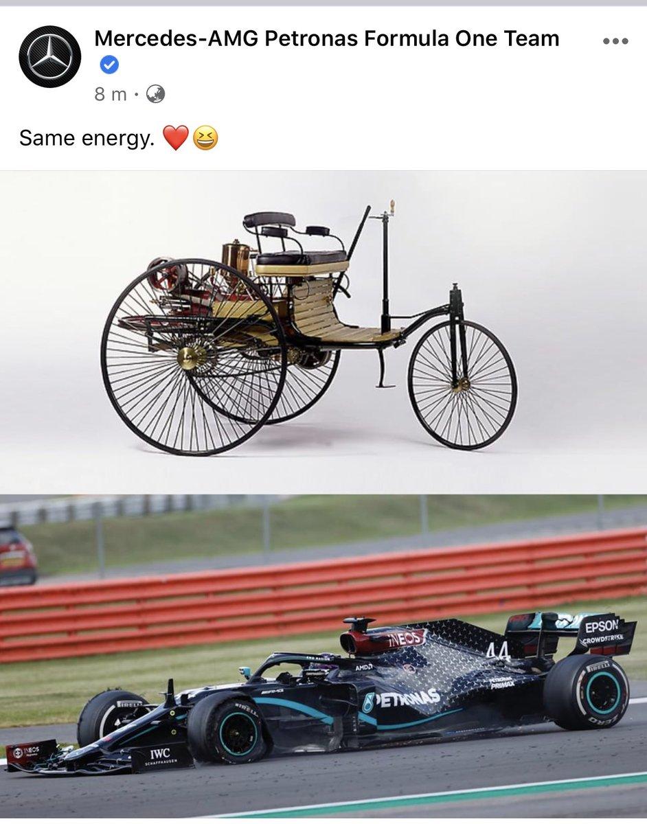 Mercedes Benz  @MercedesAMGF1 Social media team is on point 😂💯 #F1 #MercedesAMGF1 https://t.co/eAD6ThOeya